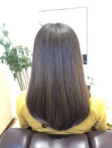 低温縮毛矯正の仕上げイメージ